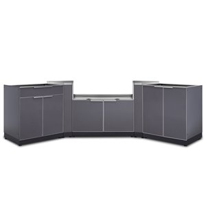 Cuisine extérieure modulaire NewAge Products, 129.75 po x 36,5 po, gris ardoise, 4 pièces