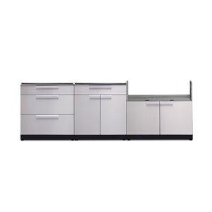 Cuisine extérieure modulaire NewAge Products, 94 po x 36,5 po, acier inoxydable, 3 pièces