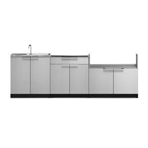 Cuisine extérieure modulaire NewAge Products, 104 po x 36,5 po, acier inoxydable, 3 pièces