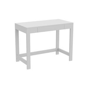 Safdie & Co. Modern Contemporary Computer Desk -19.75-in W - 1-Drawer - White