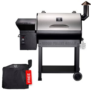 inQbrands Pellet Barbecue ZGrills-7002E - 694-sq. in. - Silver Stainless Steel