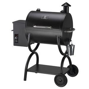 inQbrands Pellet Barbecue ZGrills-550A - 590-sq. in. - Black Porcelain-Coated Steel