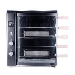 Brazilian Flame BG-05LX Black Gas Rotisserie Grill 5-Skewer - 22-in - Stainless Steel