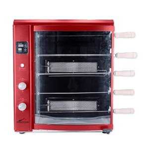 Brazilian Flame BG-05LX Red Gas Rotisserie Grill 5-Skewer - 22-in - Stainless Steel