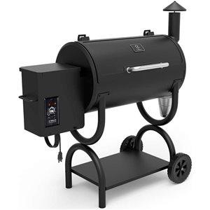 inQbrands Pellet Barbecue ZGrills-550B - 538-sq. in. - Black Porcelain-Coated Steel