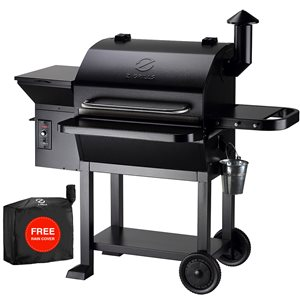 inQbrands Pellet Barbecue ZGrills-10002B - 1060-sq. in. - Black Stainless Steel