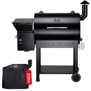 inQbrands Pellet Barbecue ZGrills-7002B - 694-sq. in. - Black Stainless Steel