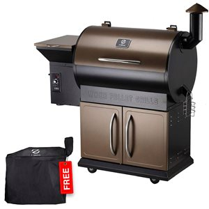 inQbrands Pellet Barbecue ZGrills-700D - 694-sq. in. - Brown Stainless Steel