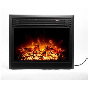 Foyer électrique encastrable Flamehaus à  DEL, 31 po, noir