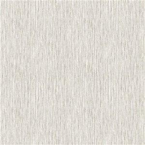 Papier peint Surface en vinyle texturé en toile de ramie par Graham & Brown, non encollé, 56pi², crème