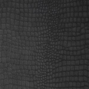 Papier peint Skins en vinyle texturé avec motif d'animaux par Graham & Brown, non encollé, 56pi², noir