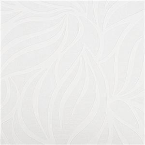 Papier peint en vinyle texturé peinturable au motif de feuilles par Graham & Brown, non encollé, 56pi², blanc