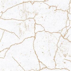Papier peint Impératrice en tissu non-tissé texturé au motif abstrait par Graham & Brown, non encollé, 56pi², or