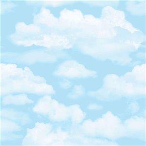 Papier peint Enfants en papier au motif de nuages par Graham & Brown, non encollé, 56pi², bleu/blanc
