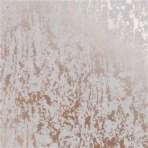 Papier peint Milan en vinyle texturé au motif abstrait par Graham & Brown, non encollé, 56pi², gris/or rose