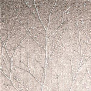 Papier peint Evita en vinyle texturé au motif de vignes par Graham & Brown, non encollé, 56pi², or