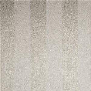 Papier peint Evita en vinyle texturé rayé par Graham & Brown, non encollé, 56pi², ivoire/taupe