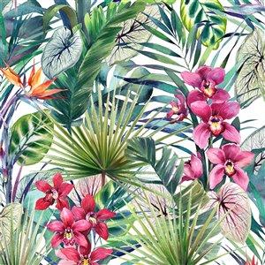 Papier peint Strata en tissu non-tissé au motif floral par Graham & Brown, non encollé, 56pi², multi