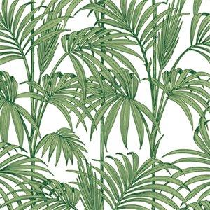 Papier peint JMD Glitterati en vinyle texturé à motif floral par Graham & Brown, non encollé, 56pi², vert