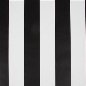 Papier peint Enfants en papier rayé par Graham & Brown, non encollé, 56pi², noir/blanc