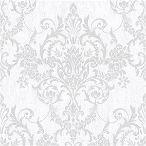 Papier peint Impératrice en tissu non-tissé texturé au motif damas par Graham & Brown, non encollé, 56pi², or