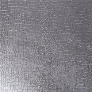 Papier peint en vinyle texturé avec motif d'animaux par Graham & Brown, non encollé, 56pi², argent