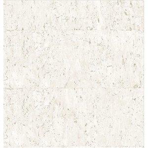 Papier peint Kyoto en vinyle texturé au motif abstrait par Graham & Brown, non encollé, 56pi², crème/or pâle