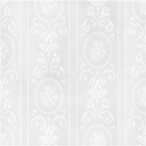 Papier peint en vinyle texturé rayé par Graham & Brown, non encollé, 56pi², blanc