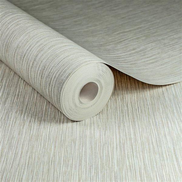 Papier peint Surface en vinyle texturé en toile de ramie par Graham & Brown, non encollé, 56pi², naturel