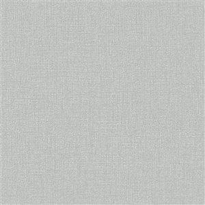 Papier peint Surface en vinyle texturé au motif abstrait par Graham & Brown, non encollé, 56pi², gris/argent