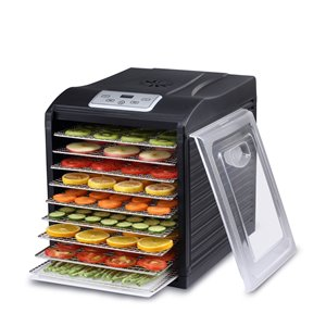 BioChef Arizona Sol Compact Food Dehydrator - 9 Steel Trays - Black