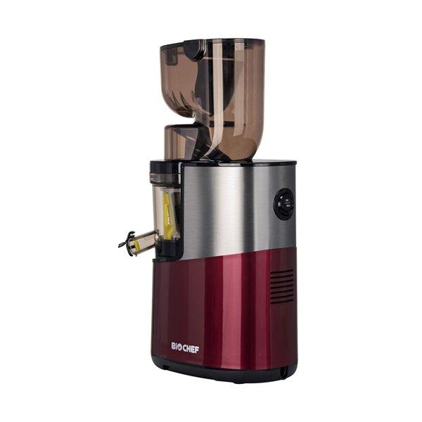 Extracteur de jus vertical Atlas Pro de BioChef, pressage à froid, 200 oz, 300 watts, rouge