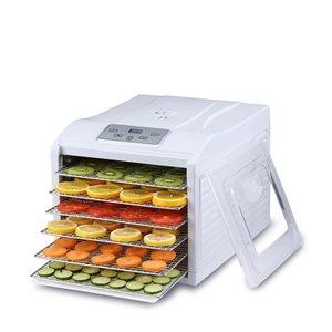 BioChef Arizona Sol Compact Food Dehydrator - 6 Steel Trays - White