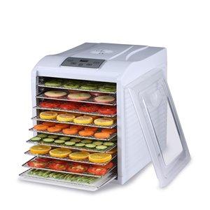 BioChef Arizona Sol Compact Food Dehydrator - 9 Steel Trays - White
