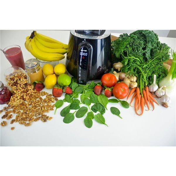 Mélangeur Living Food de BioChef avec mode à impulsion, DEL tactile, 67,62 oz, noir