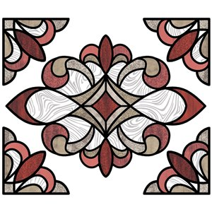 Sticker Westwood vitrail rouge lot de 2