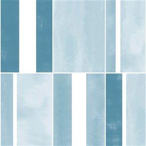 Tuiles adhédifs Azure de Floorpops, 12 po x 12 po