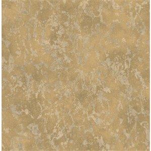 Papier peint Imogen Faux Marble de Fine Decor, laiton