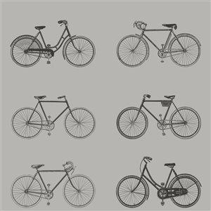 Papier peint Turnblad Bicycle de ESTA Home, gris