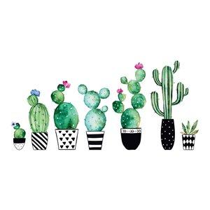 Stickers muraux aquarelle cactus lot de 8