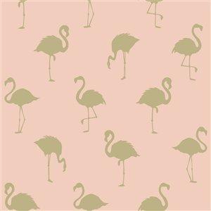 Papier peint Lovett Flamingo de ESTA Home, pêche