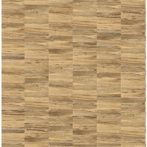 Papier peint Hugo Faux Wood de Fine Decor, cuivre
