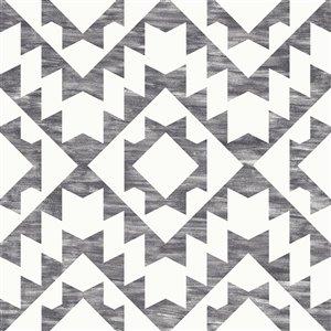 Papier peint géométrique Fantine de ESTA Home, noir