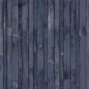 Papier peint Azelma Wood de ESTA Home, marine