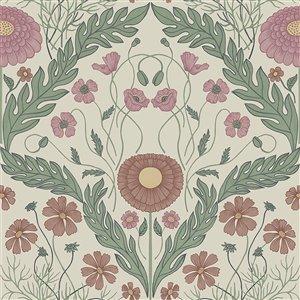 Papier peint Marguerite Damask de Midbec, multicolore