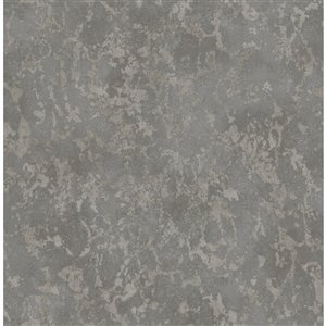 Papier peint Imogen Faux Marble de Fine Decor, charbon
