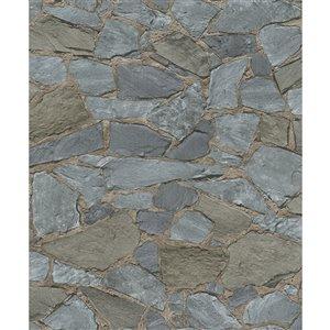 Papier peint Stanley Stone de Marburg, gris
