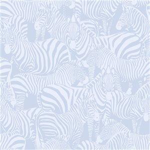 Origin Jemima Zebra Wallpaper - Periwinkle