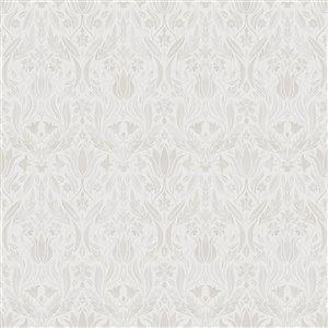 Papier peint floral Ludvig Ogee de Midbec, beige