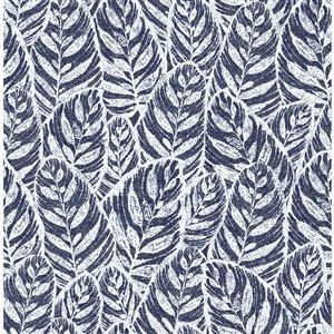 Papier peint Del Mar Botanical de A-Street Prints, indigo